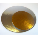 Cake Board Golden and Silver,  diameter 15.2 cm, 3 pieces
