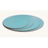 Planche bleu bébé ronde ondulée, diamètre 20 cm