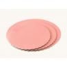 Planche rose bébé ronde ondulée, diamètre 25 cm