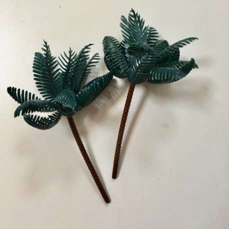 Small palm tree, plastic, approx. 10 cm, 2 pieces