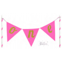"""One"" Cake Banner, rosa"