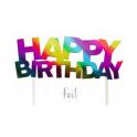 Topper Happy Birthday rainbow foil