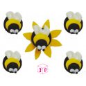 AH -  Icing Decorations bumblebee, 5 pieces