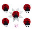 AH -  Icing Decorations ladybug, 5 pieces