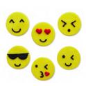 AH - Zuckerdekor emoji/smiley, 5 Stück
