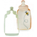 Cookie Cutter Baby bottle white, 10 cm