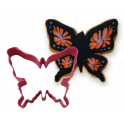 Cookie Cutter Butterfly pink, 8 cm