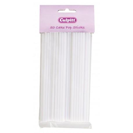 Culpitt - White Lollipop Sticks. Plastic 15.5 cm