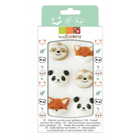 Scrapcooking - Sugar decoration sweet animals, 6 pieces