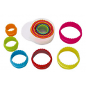 Round cookie cutters plastic, 6 pieces