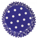 Baking Cups white polka on blue, 30 pieces