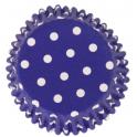 Caissettes à cupcakes bleu à pois, 30 pièces