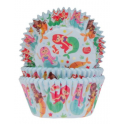 Baking Cups white mermaid, 50 pieces