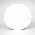 Planche blanche en carton ronde, diamètre 15 cm, épaisseur 1 mm