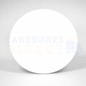Planche blanche en carton ronde, diamètre 30.3 cm, épaisseur 1 mm