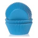 Caissettes à cupcakes cyan bleu, 50 pièces
