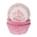 Baking Cups pink butterfly, 50 pieces