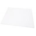 Planche blanche rectangulaire, 30 x 40 cm, épaisseur 1.2 cm