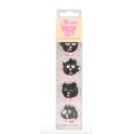 Baked with love - Icing Decorations cats, 12 pieces