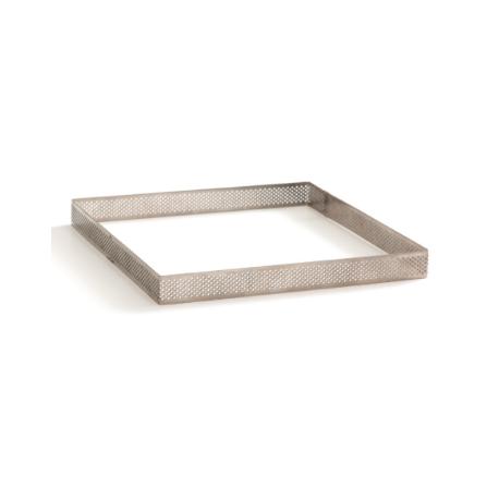 Decora - Cadre à tarte perforé carré, 20 X 20 X 2 H CM