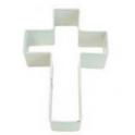 Ausstechform Kreuz weiss, 10 cm