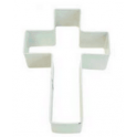 Cookie Cutter cross white, 10 cm