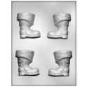 CK - Plastic mold for chocolate Santa boots, 4 cavities