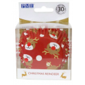 Baking Cups Christmas Reindeer, 30 pieces