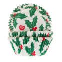 Baking Cups Holly Leaf, 50 pieces