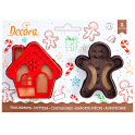 Decora - Cookie Cutter  house & gingerbread man, 2 pieces