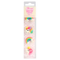 Baked with Love Icing Decorations unicorn & rainbow, 12 pieces