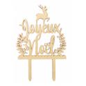 """Cake topper """"Joyeux Noël"""", wood"""