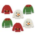 AH - Décoration en sucre pulls de Noël, 6 pièces