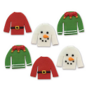 AH -  Icing Decorations Christmas jumpers, 6 pieces