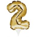 Topper Numéro gonflable doré 2