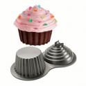 Wilton - Moule cupcake géant 3D en aluminium