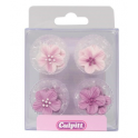 Culpitt Icing Decorations flower lilac, 12 pieces