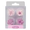 Culpitt Décoration en sucre fleurs lila, 12 pièces