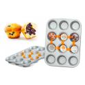 Decora - Moule à 12 cupcakes/muffins en aluminium