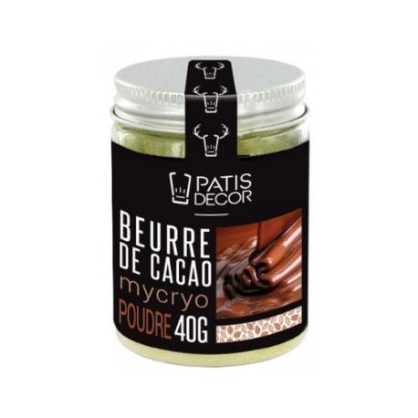 Patisdecor - Mycryo, beurre de cacao en poudre, 40 g
