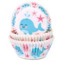Caissettes à cupcakes baleine, 50 pièces