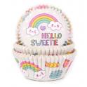 Caissettes à cupcakes arc-en-ciel, 50 pièces