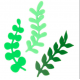 PME - Eucalyptus wreath leaves cutter, set of 3