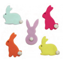 AH - Décoration en sucre lapins, 5 pièces