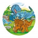 Dekora - Disque en azyme dinosaure,  20 cm