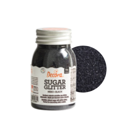 Decora Sugar Black (sanding sugar), 100 g