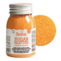 Decora Sucre coloré orange (sanding sugar), 100 g