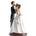 """Dekora - Wedding cake topper couple """"Le baiser"""", 16 cm"""