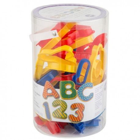 Wilton - 50 Letters and numbers Plastic Cookie Cutter Set