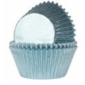 Caissettes à cupcakes bleu bébé alu, 24 pièces